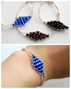 DIY Diamond Beaded Bracelet Tutorial. Really easy well done tutorial by Studs and Pearls here.