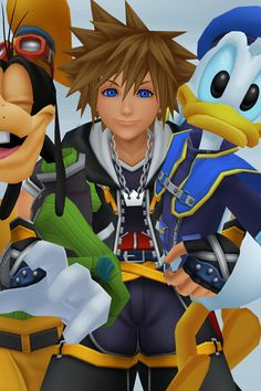Sora, Donald, and Goofy