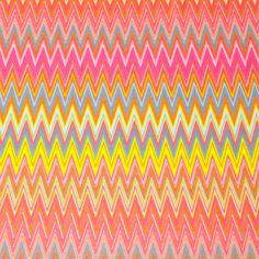 Bright Chevron Pink Cotton Jersey Knit Fabric