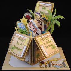 POP UP BOX CARD 3D KIT - NATIVITY CHILDREN - CUP737191_2049 | Craftsuprint