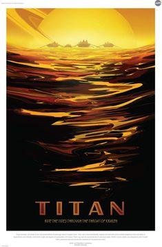 Titan - Navegue pelas ondas da garganta do Kraken (Foto: Divulgação/Nasa)