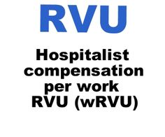 Hospitalist Compensation per wRVU as a Proxy for Total Encounters.
