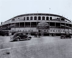 Wrigley Field, home of the Chicago Cubs, is the most historic stadium of this time. It was built in The stadium is still used by the Cubs today. Baseball Park, Chicago Cubs Baseball, Baseball Field, Baseball Tickets, Phillies Baseball, Baseball Photos, Sports Stadium, Stadium Tour, Busch Stadium