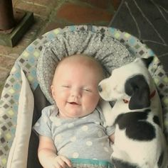 Cuteness Overload: Baby, Pit Bull Puppy Are Cutest Best Friends You'll See Today.    via our friends @huffingtonpost #PitBull #Baby