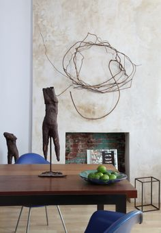 love the minimalist nature art and the primitive statues.