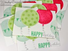 Because Birthday Cards are a MUST HAVE! I created a stack of birthday cards using the new 2015 Stampin' UP! Occasions catalog Celebrate Today birthday framelits and stamp set. #luvinstampin #birthdays
