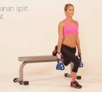 Lunge and press with kettlebell - Exercises for legs & butt - Women's Health & Fitness