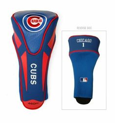MLB Chicago Cubs Single Apex Head Cover, Blue by Team Golf. $19.99. Made of buffalo vinyl and synthetic suede like materials with a truly sleek design. Fits all oversized clubs. 85% vinyl/10% acrylic nylon/5% pvc. Includes 4 location embroidery. This headcover fits all oversized clubs, and is made of buffalo vinyl and synthetic suede materials with a truly sleek design.  Includes 4 location embroidery.