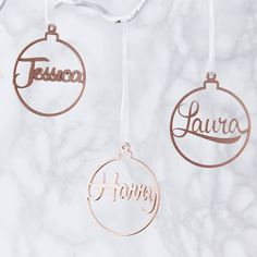 Metallic Personalised Bauble Christmas Decoration