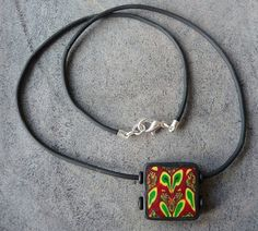 Shoply.com -Rasta Red Gold Green Tile Pendant. Only £10.00
