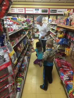 JeremyBieber: My kids in the candy store. Who looks like they are the most excited ?lol