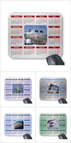 Nose Cone Art.  A unique set of 2016 Calendar Mouse Pads.