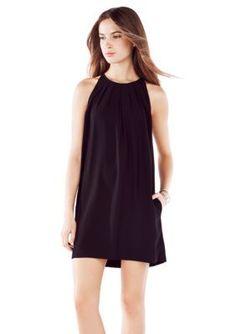 BCBGMAXAZRIA  Lynzie Sleeveless Pleated Shift Dress