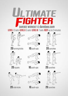 Ultimate Fighter  Workout | Posted by: CustomWeightLossProgram.com