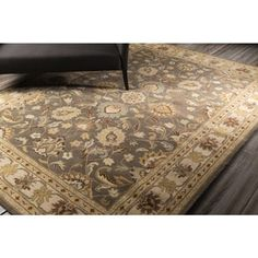 Shop for Hand-tufted Coliseum Gray Traditional Border Wool Rug (4' x 6'). Get free shipping at Overstock.com - Your Online Home Decor Outlet Store! Get 5% in rewards with Club O!