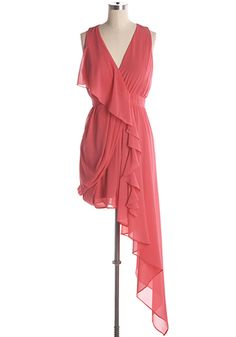 All the world is your stage in this beautifully draped asymmetrical party dress. I Dress, Wrap Dress, Party Dress, Beautiful Summer Dresses, Different Shades Of Pink, Light Dress, Retro Party, Vintage Style Dresses, Cocktail Dresses