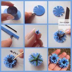 Handmade polymer clay flowers!