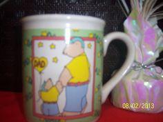 Coffee Cup Dad Teddy bear & Son Ceramic Gift by NAESBARGINBASEMENT, $6.00