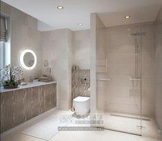 Дизайн ванной комнаты в светлых тонах: фото 2016