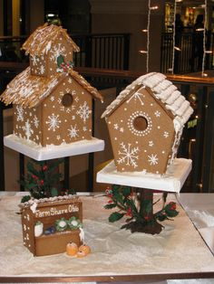 The FarmShare Kitchen: Check out FarmShare at Gingerbread Lane Cool Gingerbread Houses, Gingerbread Village, Christmas Gingerbread House, Christmas Treats, Christmas Baking, All Things Christmas, Christmas Cookies, Christmas Holidays, Christmas Decorations