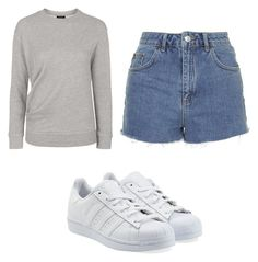 """""""Untitled #3511"""" by clarry-sinclair ❤ liked on Polyvore featuring Topshop and adidas Originals"""