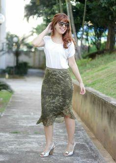 Look saia MIDI www.fashionmarigoes.blogspot.com.br