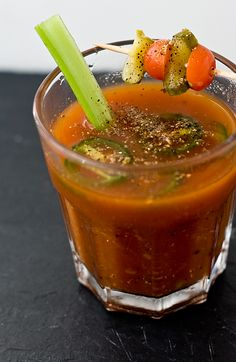 Bloody Mary Recipe-SUPER SPICY and strong.don't drink if you're the least bit susceptible to GERD! Fun Drinks, Yummy Drinks, Yummy Food, Beverages, Fresh Horseradish, Gerd Diet, Bloody Mary Recipes, Thirsty Thursday, Cocktail Recipes