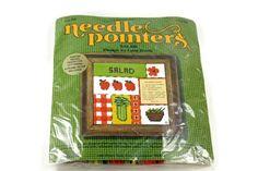Vintage Salad Needlepoint Kit 5x5