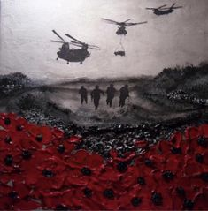 Remembered, By Day And By Night from the War Poppy Collection by remembrance artist Jacqueline Hurley. Remembrance Day Pictures, Remembrance Day Poppy, Pictures Of Poppy Flowers, Original Art, Original Paintings, Remember The Fallen, Armistice Day, Anzac Day, Military Art