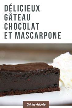 Délicieux gâteau chocolat et mascarpone ! #gâteau #recettefacile #idéerecette #chocolat #mascarpone Baking, Recipes, Food, Dessert Food, Chocolate Fondue, Sweet Recipes, Cooker Recipes, Bread Making, Meal