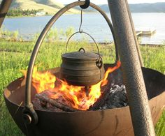 Cowboy Cauldron Portable Fire Pit and Grill - Picnic - Outdoor Living - Home & Garden - NapaStyle