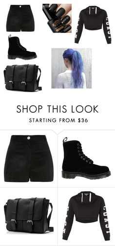 """black"" by yarendemirci on Polyvore featuring moda, River Island, Dr. Martens ve Topshop"
