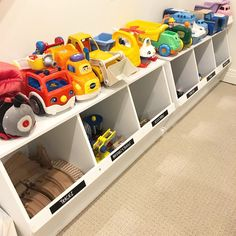 Ideas and designs to organize toys in childrens room. room Ideas and desig… Ideas and designs to organize toys in childrens room. room Ideas and designs to organize toys in childrens room. Small Playroom, Modern Playroom, Playroom Design, Kids Room Design, Nursery Design, Toy Room Organization, Playroom Organization, Organized Playroom, Kids Storage