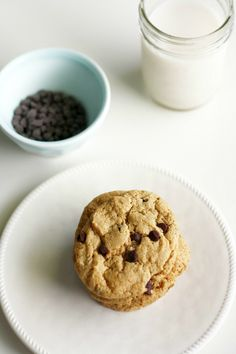 A recipe for vegan soft batch cookies that tastes like the store bought version. Dairy and egg free.