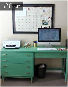 retro mint desk