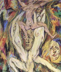 Austin Osman Spare - The Bones Go Last [Austin Osman Spare: Cockney Visionary. Austin Osman Spare, Magie Du Chaos, Rosaleen Norton, Automatic Drawing, Pastel Watercolor, English Artists, Image Archive, Great Artists, Magick