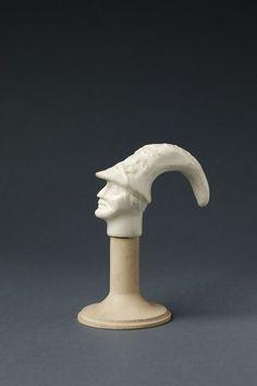 Soft-paste porcelain cane handle, made by Saint-Cloud porcelain factory, France, about Museum Number Cane Handles, Galleries, Britain, Shelf, Porcelain, Table Lamp, Europe, Museum, Study