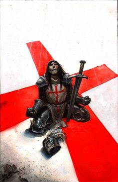 bisley tower chronicles knights templar cover on ebay $1 no reserve Comic Art