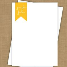 Personalized stationary — monogrammed ribbon note cards.