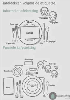 Feest styling & DIY   Tafeldekken en servetten vouwen volgens de etiquette