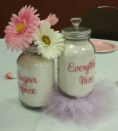 Sugar and Spice Baby Shower Centerpieces