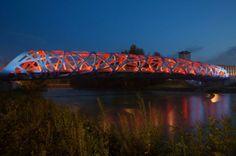 Le Pont Hans Wilsdorf à Genève Art And Architecture, Lighting Design, Bridge, Places, Travel, Image, Beautiful, Projects, Bridges
