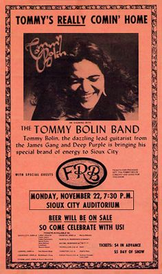 Tommy Bolin Archives - Photo Gallery 8