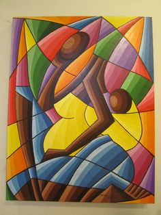 """A Pensadora"", Fabrício Dom *""The Thinker"" Cool Paintings, Original Paintings, Modern Art, Contemporary Art, Painting Corner, Art Africain, Art And Illustration, African Art, Oeuvre D'art"