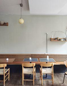 Fredericia — J39 chair by Borge Mogensen at Café Auto, Copenhagen
