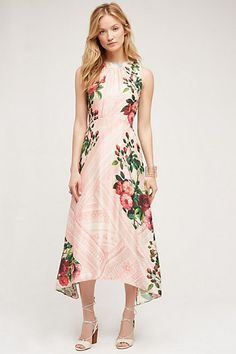 Just bought this for my dad's wedding - not at all my usual style but it looked so amazing on! Butterfly Garden Midi Dress #anthropologie