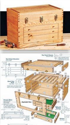 Dovetailed Tool Chest Plans - Workshop Solutions Projects, Tips and Tricks | WoodArchivist.com #WoodcraftPlans