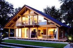 architektur  Ein Haus aus Holz und Glas, Energie sparend