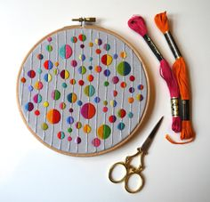 Hand Embroidered Vibrant Multicoloured Spot 6 by TheGrumpyCrafter Hand Embroidery Videos, Hand Embroidery Stitches, Embroidery Hoop Art, Embroidery Techniques, Beaded Embroidery, Cross Stitch Embroidery, Diy Broderie, Learning To Embroider, Flower Embroidery Designs