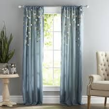 Image result for beige and blue curtains